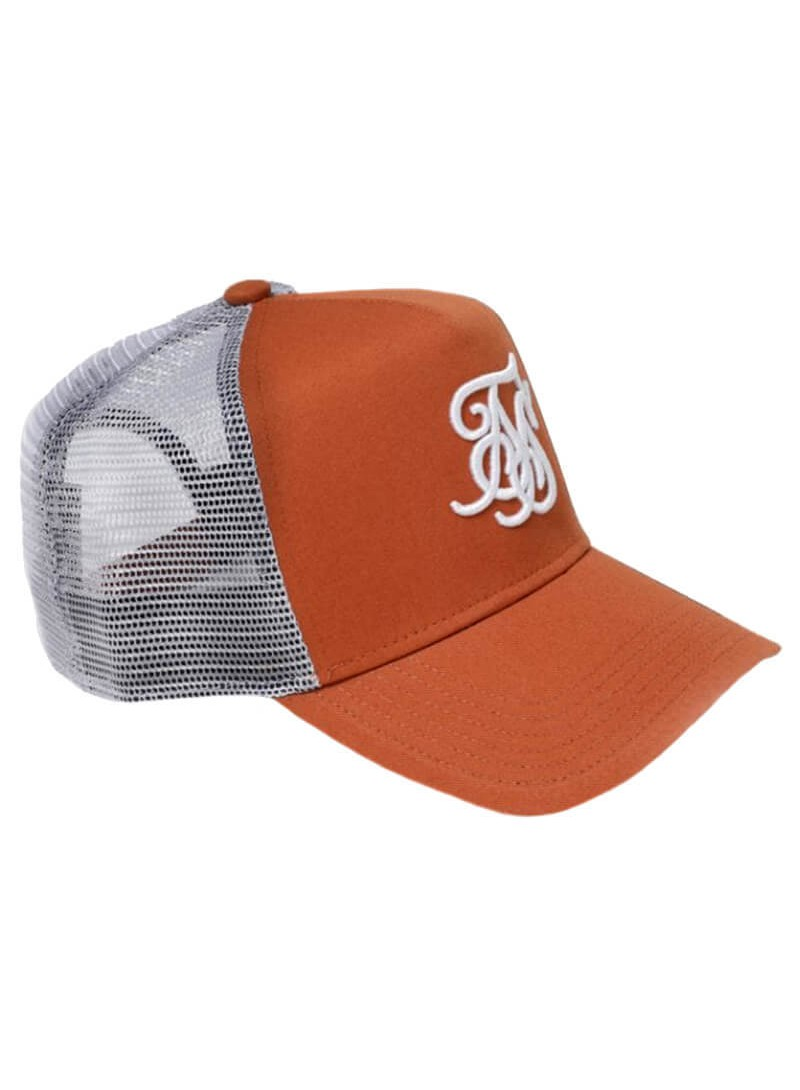 SikSilk Bent Peak Trucker - Brick