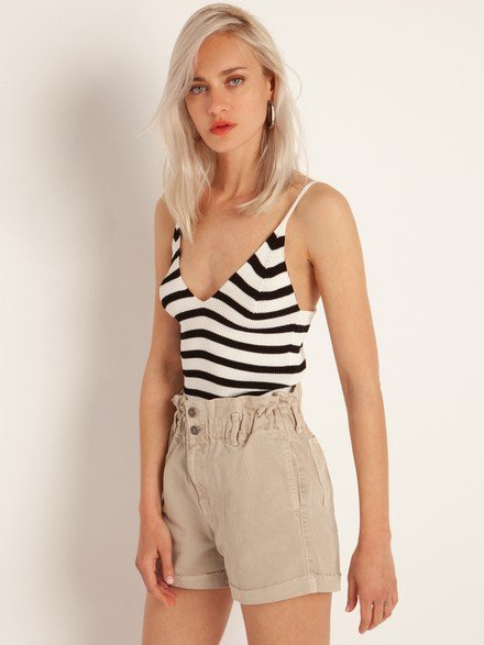 Striped kni top