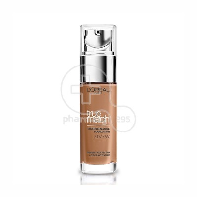 L'OREAL PARIS - TRUE MATCH Super Blendable Foundation No7D7W (Ambre Dore) - 30ml