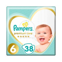 PAMPERS - PREMIUM CARE No6 (13+kg) - 38 πάνες