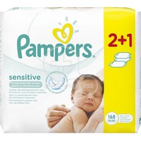 PAMPERS - Μωρομάντηλα Sensitive Maximum Care - 3x56 (168τμχ)