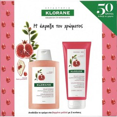 Klorane Pomegranate Shampoo With Pomegranate Σαμπουάν 200ml & Conditioner With Pomegranate Μαλακτική Κρέμα 200ml