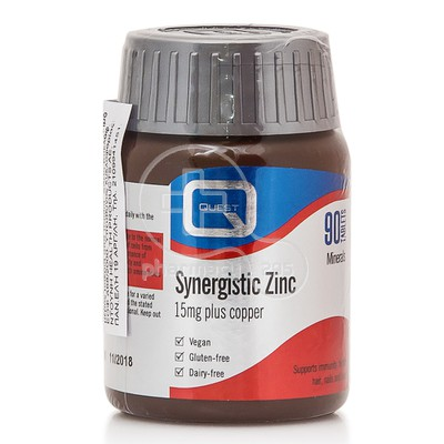 QUEST SYNERGISTIC ZINC 15mg with copper 90 tabs