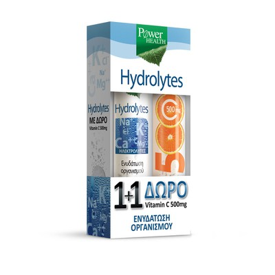 Power Health - Hydrolytes & ΔΩΡΟ Vitamin C 500mg  - 2x20eff.tabs
