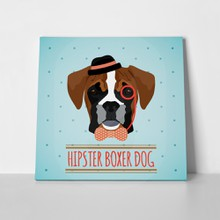 Hipster boxer dog hat 229386424 a