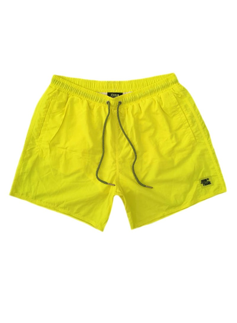 JOHN FRANK NEON YELLOW SWIM SHORTS
