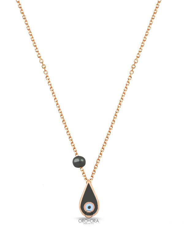 Necklace Rose Gold K14 with Enamel