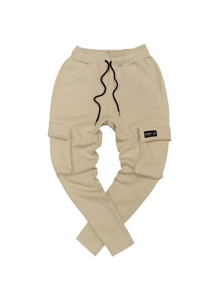 HENRY CLOTHING LOGO BEIGE POCKET TRACKPANTS