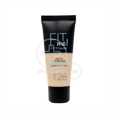 MAYBELLINE - FIT ME Matte & Poreless Foundation No128 (Warm Nude) - 30ml