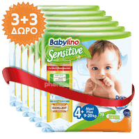 BABYLINO - PROMO PACK 3+3 ΔΩΡΟ Babylino Sensitive Maxi Plus No4+ (9-20 Kg) - 19 πάνες