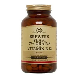 Solgar brewer s yeast with vitamin b12 250 tampletes