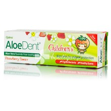 Optima Aloe Dent Children's Toothpaste Strawberry, 50ml