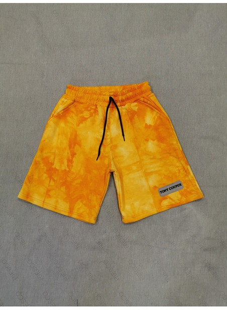 TONY COUPER YELLOW BATIK SHORTS