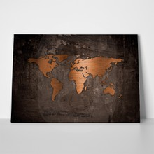 Bronze world map a