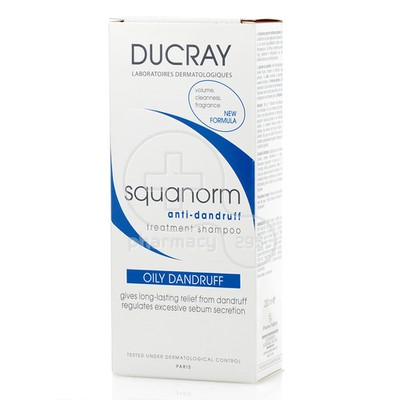 DUCRAY - SQUANORM Shampooing Traitant Antipelliculaire (Λιπαρή πιτυρίδα) - 200ml