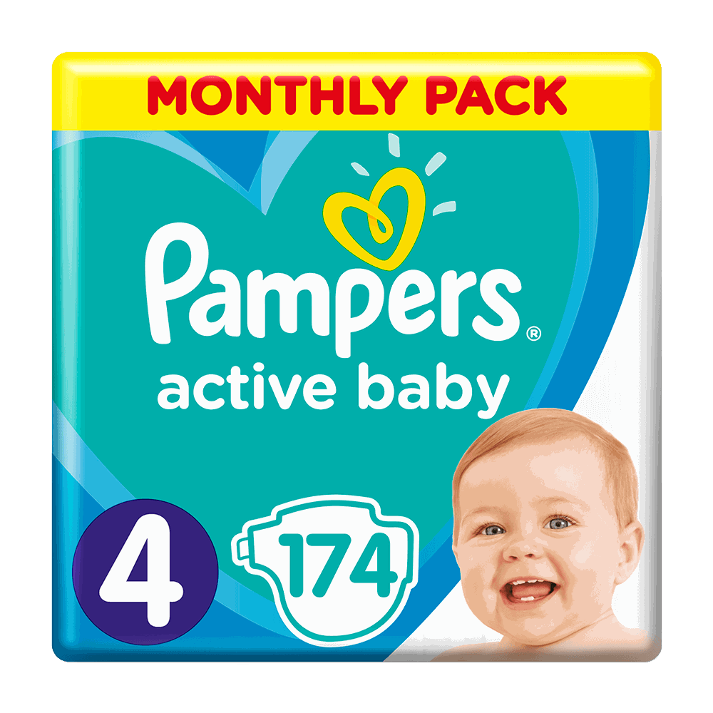 136194 pampers   monthly pack active baby   4  9 14kg    174       8001090910820 81678671