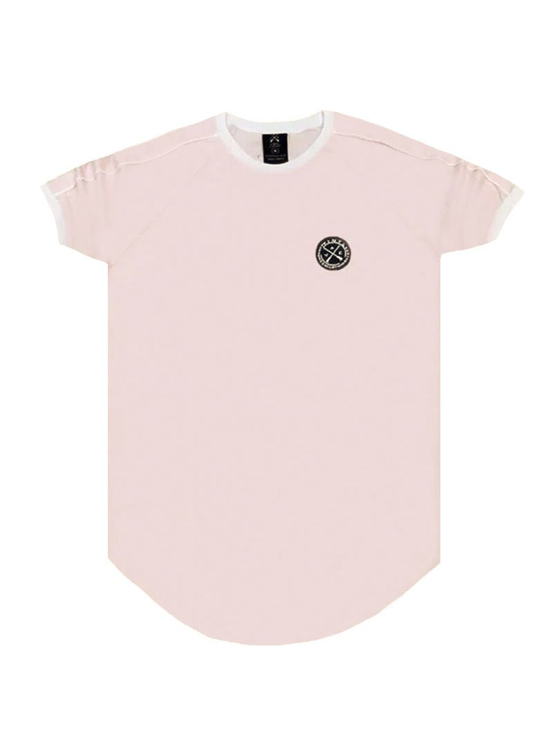 VINYL ART CLOTHING LIGHT PINK 2 STRIPE T-SHIRT