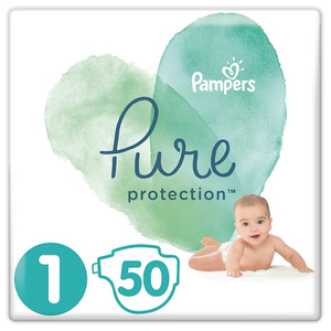 Pampers pure protection panes megethos 1 25 kg 50 panes