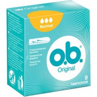OB Original Normal Curved Grooves 8 Tampons