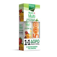 POWER HEALTH MULTI+MULTI STEVIA 24EFF. TABL (PROMO+VITAMIN C 500MG 20EFF. TABL)