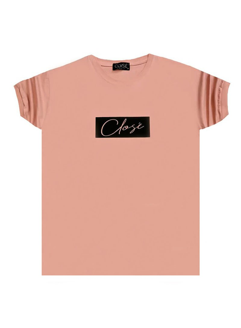 CLVSE SOCIETY SOMON T-SHIRT 501 WITH BLACK SQUARE