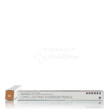 Korres Long Lasting Eyebrow Pencil - 03 (Light Shade) Ανοιχτή Απόχρωση, 1.29gr