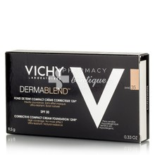Vichy Dermablend FDT Compact Cream SPF30 (35 Sand) - Make up υψηλη κάλυψη, 9.5gr