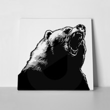 Black white engraved bear 300079322 a