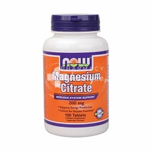 Now Magnesium Citrate 200 mg (Vegetarian), 100 tabs
