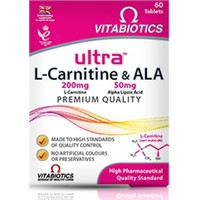 VITABIOTICS ULTRA L-CARNITINE 200MG&ALA 50MG 60TABL