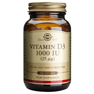SOLGAR Vitamin D3 1000iu 25mg 100softgels