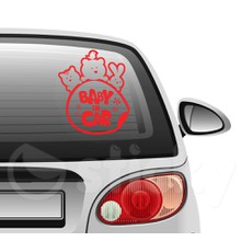 Baby on board 7 on car