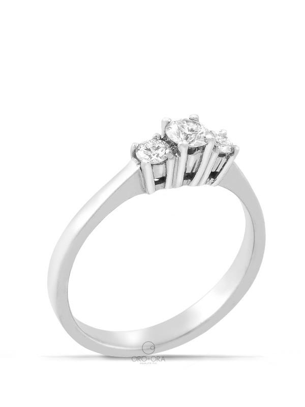 Βέρες Benz Collection Basic Light Κ14 Βέρα Λευκή με Διαμάντια 031 ... 61150ae3311