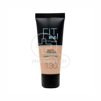 MAYBELLINE - FIT ME Matte & Poreless Foundation No130 (Buff Beige) - 30ml