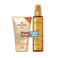 NUXE SUN TANNING OIL SPF10 150ML (PROMO+AFTER SUN MILK 100ML)