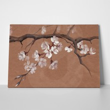 Watercolor painting tree blossom asian style 131160917 a
