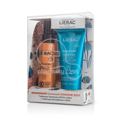 LIERAC - PROMO PACK SUNISSIME Lait Protecteur Anti-Age Global SPF50 (100ml) & APRES SOLEIL Lait Reparateur Anti Age Global (100ml)