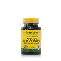 NATURE'S PLUS - Natural Beta Carotene 25,000iu - 90softgels