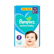 Pampers Active Baby Maxi Pack No3, 6-10Kg 66Τμχ.