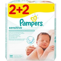 PAMPERS BABY WIPES SENSITIVE 56ΤΕΜ (PROMO 2+2)