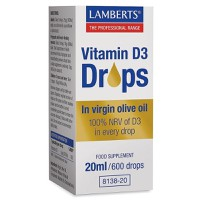 Lamberts Vitamin D3 Drops In Virgin Olive Oil 20ml/600drops