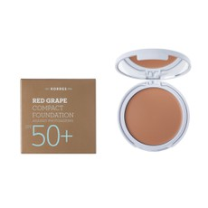 Korres Κόκκινο Σταφύλι Compact Foundation SPF50+ Light Sunglow 8gr. Make-Up σε μορφή compact με μη λιπαρή και ελαστική υφή.