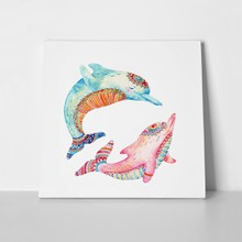 Watercolor pattern dolphins 588636593 a