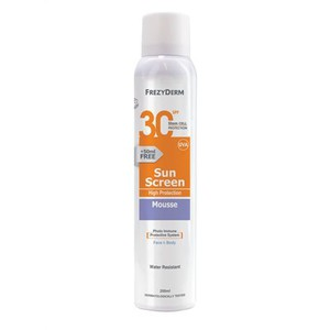 Freyderm sunscreen mousse spf30 200ml