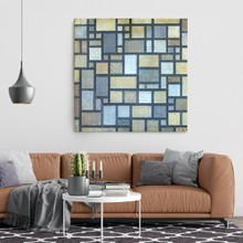 Mondrian   composition with grid 7