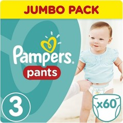 Pampers Jumbo Pack Pants No 3 (6-11kg), 60τμχ
