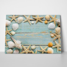 Sea shells frame