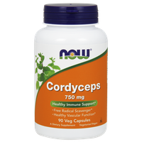 NOW CORDYCEPS 750 MG, 90 VEG. CAPS
