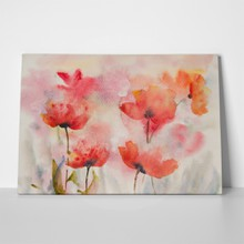 Stylized poppy flowers field 469799828 a