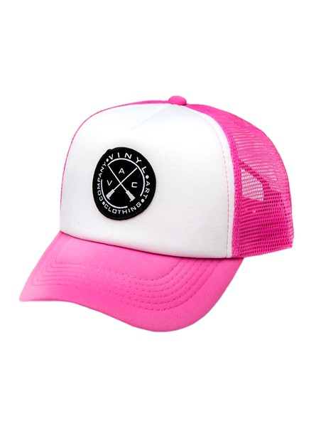 VINYL ART CLOTHING - CAP WHITE PINK